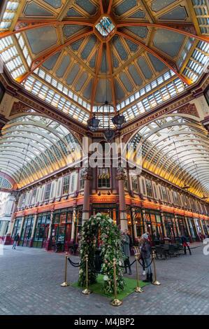 Leadenhall market ceiling, London, United Kingdom - Stock Image