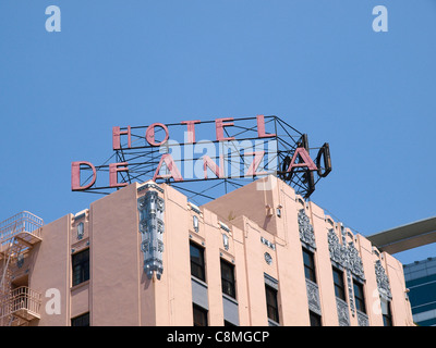 The Hotel De Anza historic hotel in San Jose, California, incorporating Art Deco, Mission and Spanish Revival architectural - Stock Image