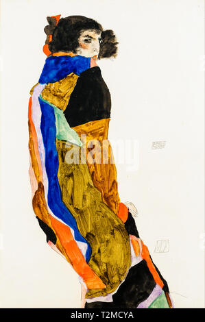 Egon Schiele, Moa, portrait, 1911 - Stock Image