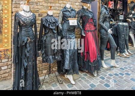 Gothic,Clothes,Style,Camden Market,London,England.UK - Stock Image