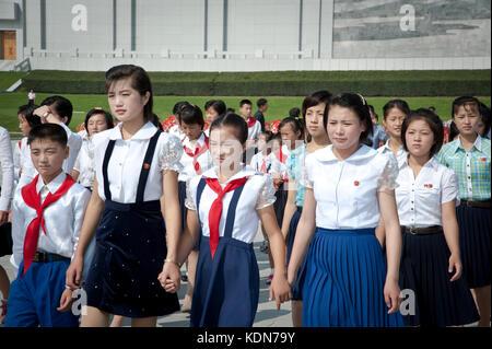 Rassemblement lors de la fête nationale à Pyongyang le 9 octobre 2012. Meeting during the National Day - Stock Image