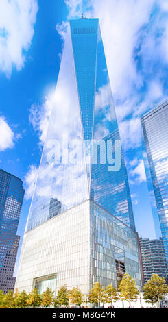 The beautiful architecture of the new World Trade Center in New York City. - Stock Image