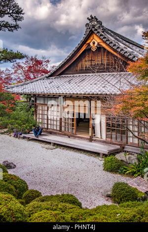 Autumn visit in Konpuku-ji Temple, Kyoto, Japan - Stock Image
