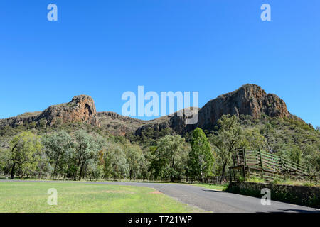 Scenic view of Minerva Hill National Park, Queensland, QLD, Australia - Stock Image