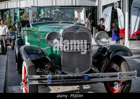 Ford Model A 1930 Vintage convertible car. - Stock Image