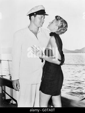 Orson Welles and Rita Hayworth / The Lady From Shanghai / 1948 directed by Orson Welles (Columbia Pictures) - Stock Image