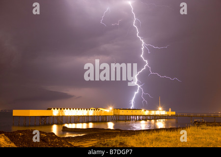 stroke of lightning - Stock Image