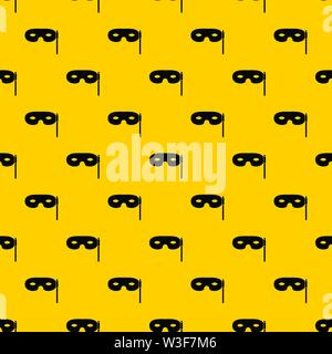 Carnival mask pattern vector - Stock Image