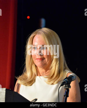 Bellmore, New York, USA. July 21, 2016. ANGELA ANTON accepts the Humanitarian Award at the 19th Annual Long Island - Stock Image