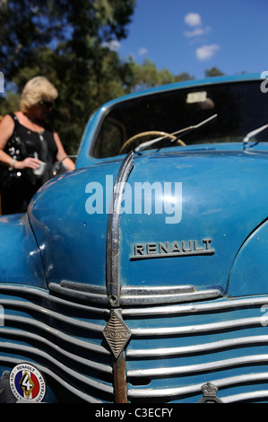 vintage Renault 4CV, classic French motor car - Stock Image