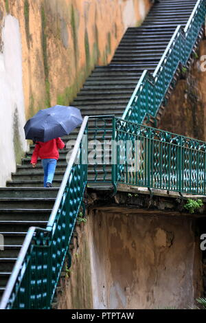 Stairs of Grasse,Alpes Maritimes, 06, PACA, France - Stock Image