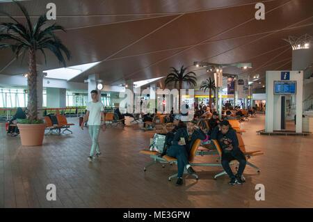 Transit area, Brunei International Airport, Bandar Seri Begawan - Stock Image