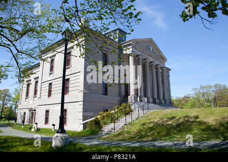 June 23, 2018- St. Johns, Newfoundland: The neoclassical architecture of St. John's Colonial Building, the former house of assembly. - Stock Image