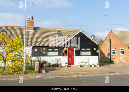 Modernised bungalow Milton Cambridge England 2018 - Stock Image
