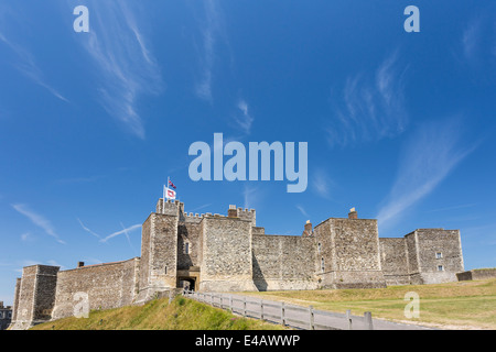 The Walls of Dover Castle Kent - Stock Image