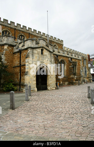 St Dionysius Church, Market Harborough, Leicestershire, UK - Stock Image