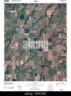 USGS TOPO Map Kansas KS Norwich 20100216 TM Restoration - Stock Image