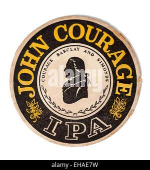 Vintage Beermat Advertising John Courage IPA Beer - Stock Image
