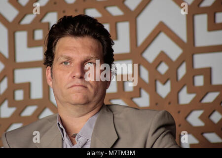 Sao Paulo, Brazil. 12th March, 2018. TV host and Chef Carlos Bertolazzi attends the press during the launch of the - Stock Image
