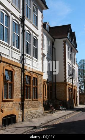 Houses in Merton Street, Oxford, Oxfordshire, UK. - Stock Image