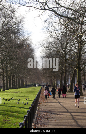 Jogging at The Mall  near St James's Park London Winter 2006 - Stock Image