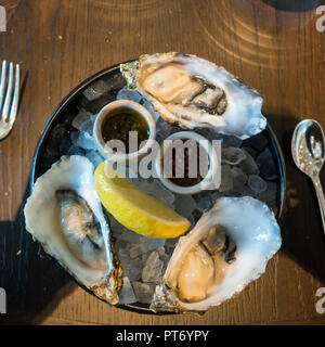 Lunch dishes at the Roux at the landau inThe Langham Hotel, UK. - Stock Image