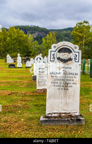 SAGUENAY, QUEBEC- September 18, 2018: Saguenay is a city in the Saguenay–Lac-Saint-Jean region of Quebec. Its economy is still strongly routed in tour - Stock Image