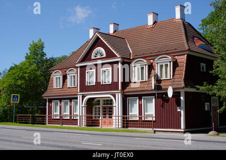 Old Sindi railway station. Estonia, Pärnu county 6th August 2017 - Stock Image