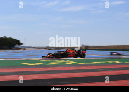 Marseille, France. 21st Jun 2019. FIA Formula 1 Grand Prix of France, practice sessions; Aston Martin Red Bull Racing, Max Verstappen Credit: Action Plus Sports Images/Alamy Live News - Stock Image