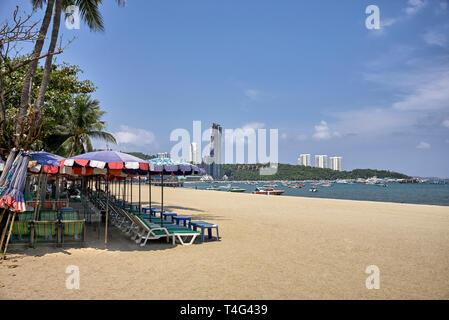 Pattaya beach, Thailand, Southeast Asia - Stock Image