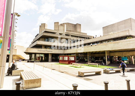 Royal National Theatre, Southbank London United Kingdom, National Theatre London, London Royal National Theatre, London National Theatre, theatre - Stock Image