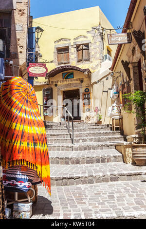 Chania, Street, Crete, Greece, Europe - Stock Image