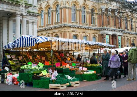 Ipswich Market day - Stock Image