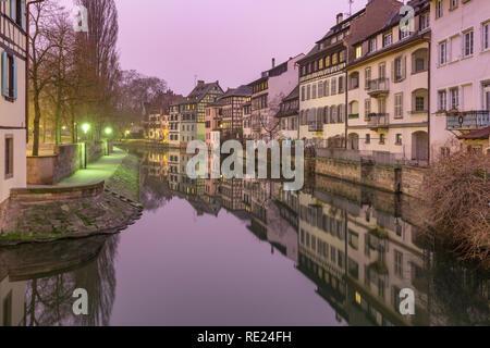 Petite France in the morning, Strasbourg, Alsace - Stock Image