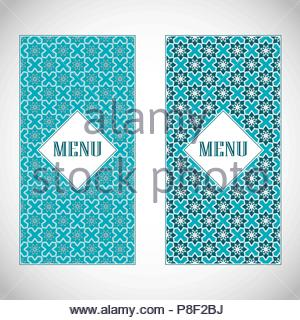 Brochure with geometric ornaments. - Stock Image