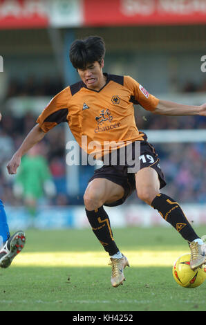 Footballer SEOL Ki-Hyeon Cardiff City v Wolverhampton Wanderers 26th December 2004 - Stock Image