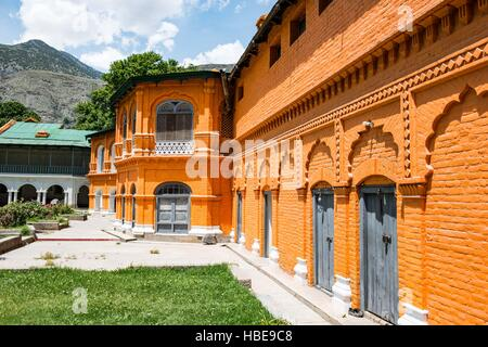 Facade of the inner building within Chitral Fort, which faces the river - Stock Image