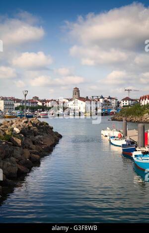 Saint Jean de Luz harbour in Pays Basque, France - Stock Image