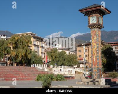 Town Square in Thimphu, Bhutan - Stock Image