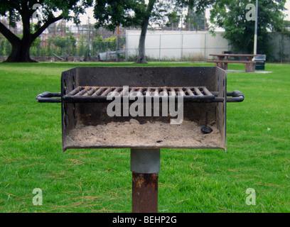 BBQ at park - Stock Image