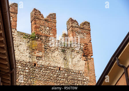 Medieval tower of Chatel-Argent castle detail . - Stock Image