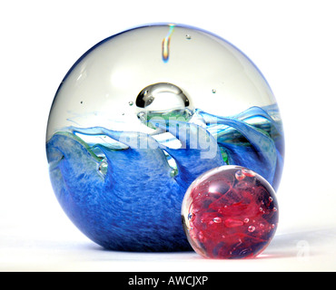 Modern Glass Paperweights EDITORIAL USE ONLY - Stock Image