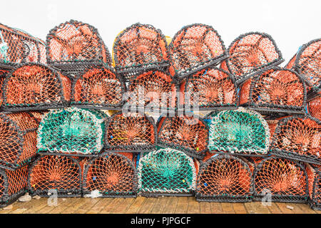 Lobster Pots or Creels - Stock Image