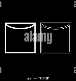 Vertical drying on hanger Clothes care symbols Washing concept Laundry sign icon outline set white color vector illustration flat style simple image - Stock Image