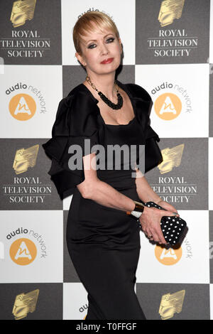 LONDON, UK. March 19, 2019: Lysette Anthony arriving for the Royal Television Society Awards 2019 at the Grosvenor House Hotel, London. Picture: Steve Vas/Featureflash Credit: Paul Smith/Alamy Live News - Stock Image