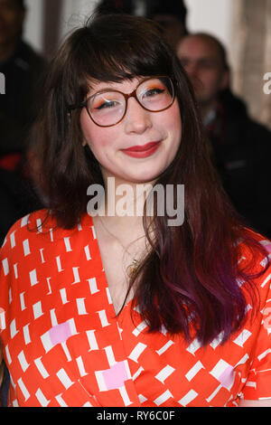 London, UK. 12th Mar, 2019. LONDON, UK. March 12, 2019: Kim-Joy arriving for the TRIC Awards 2019 at the Grosvenor House Hotel, London. Picture: Steve Vas/Featureflash Credit: Paul Smith/Alamy Live News - Stock Image