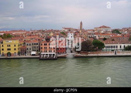 Pensione Calcina, Zattere, Canale della Guidecca, Venice, Italy - Stock Image