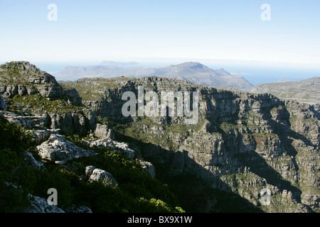 Table Mountain and the Twelve Apostles, Western Cape, South Africa. - Stock Image