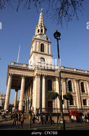 St Martin in the Fields Church London - Stock Image