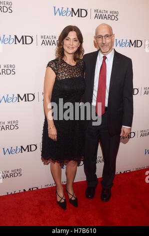 New York, NY, USA. 3rd Nov, 2016. WebMD Executives, Kristy Hammam and Steve Zatz, MD, CEO attend the WebMD Health - Stock Image